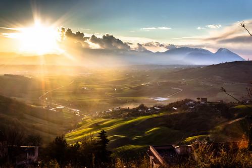 sunset sky mountain canon landscape tramonto campania hills cielo shire 1855 paesaggio benevento 600d sannio paduli contea dormientedelsannio