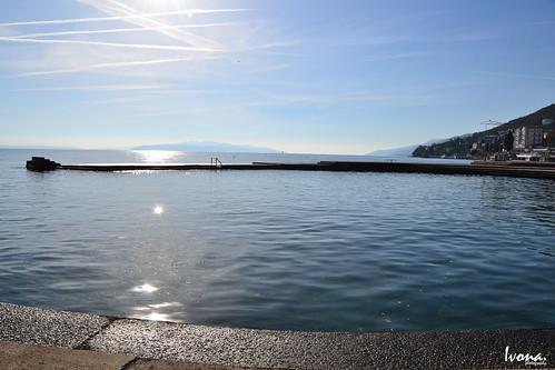 blue sea sky sun croatia sunny opatija adriaticsea abbazia vongola