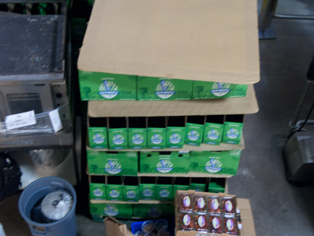 Boxes of Steam Whistle Beer