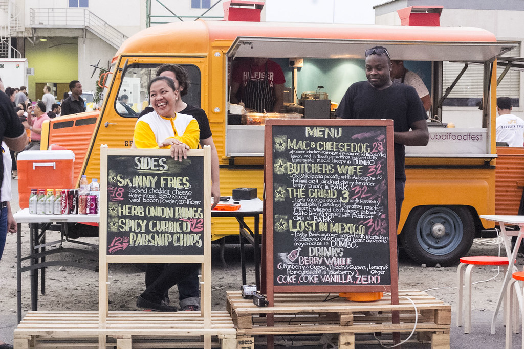 As Part Of The Dubai Food Festival Lots Fancy Trucks Which Offered Mouth Watering Gourmet Were Present During Even To Feed Hungry