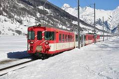 MGB train leaving Geschinen
