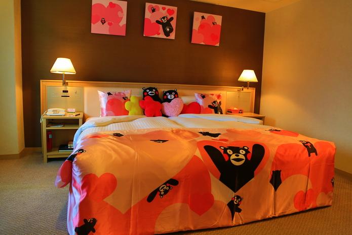 新大谷大飯店熊本 酷MA萌房 Kumamon Room 熊本車站前徒步一分 | 林氏璧和美狐團三狐的小天地