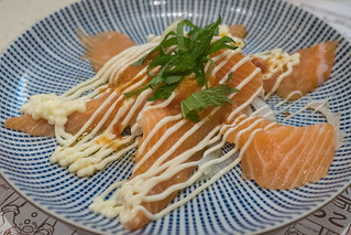 Salmon carpaccio