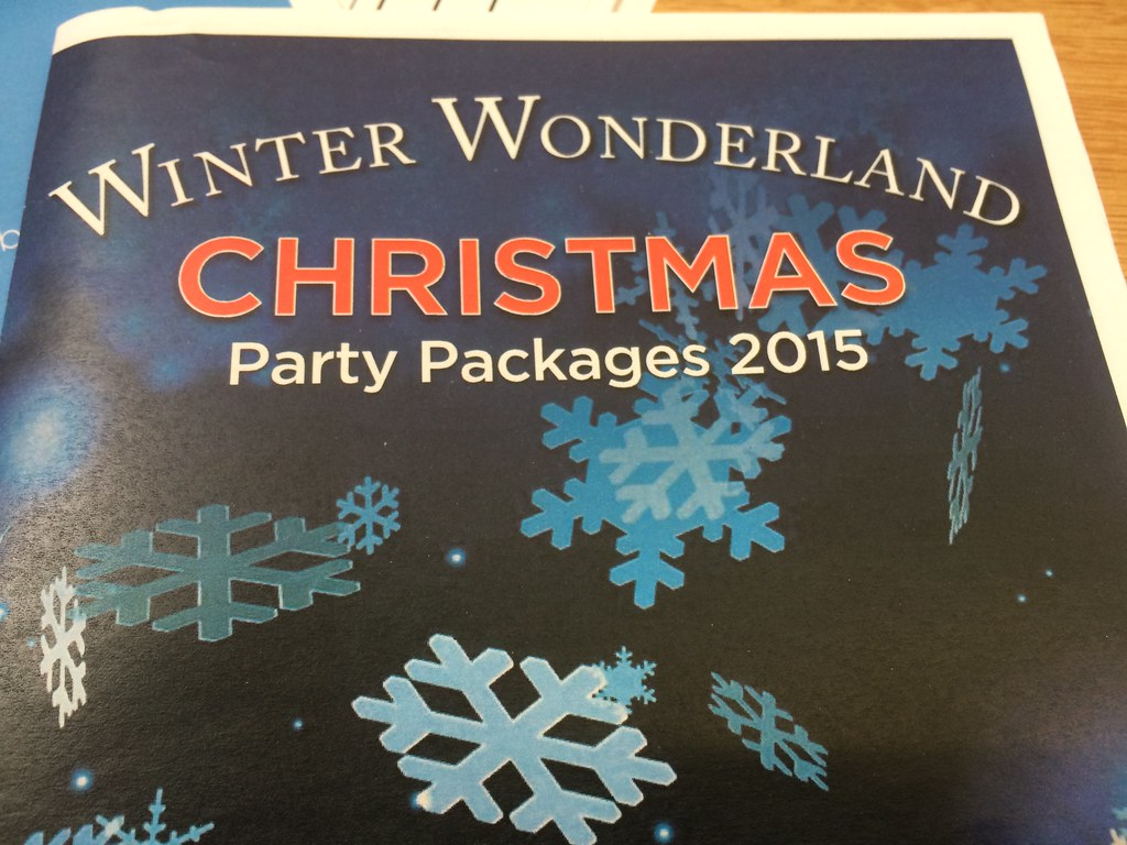 New Christmas party leaflet