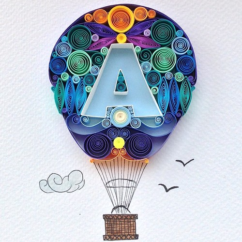 Quilled Hot Air Balloon by Sena Runa