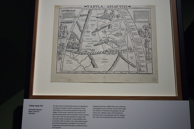 Tabula Asiae VIII, Sebastian Munster (1545-52). Geo | Graphic exhibition, National Library of Singapore