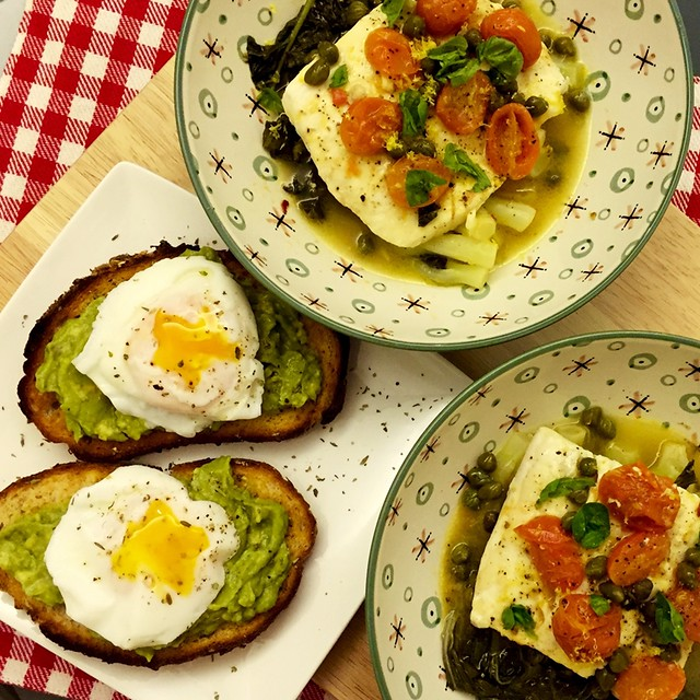 Avocado Toasts with Poached Eggs