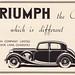 Triumph Motor Company advert, 1937 by mikeyashworth
