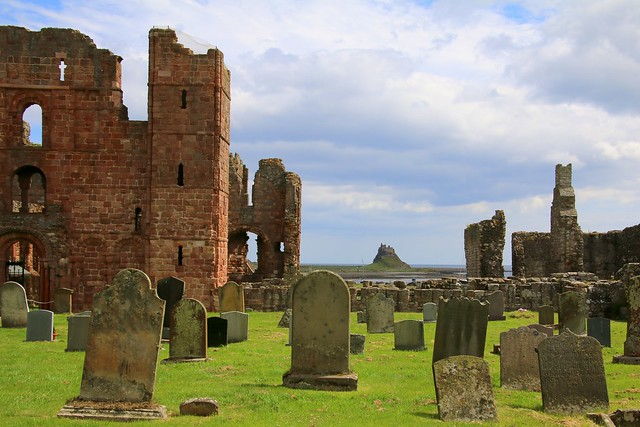 Ruins of Lindisfarne Abbey and church, Holy Island, England
