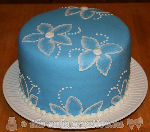 Birthday Cake With Blue Flowers Image Inspiration of Cake and