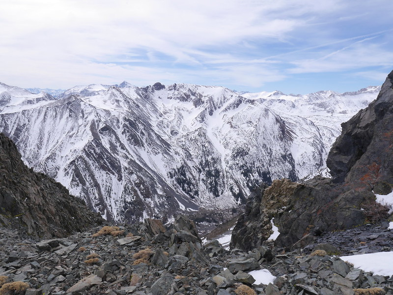 Looking into Lundy Canyon from Black Peak 3/14/15