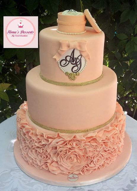 Engagement Cake by Ohanyan Ilona of Ilona's Desserts