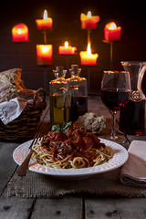 Spaghetti by Candlelight