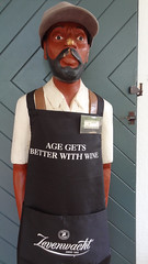 'Age Gets Better With Wine' Apron at Zevenwacht Wine Estate, Kuils River, South Africa