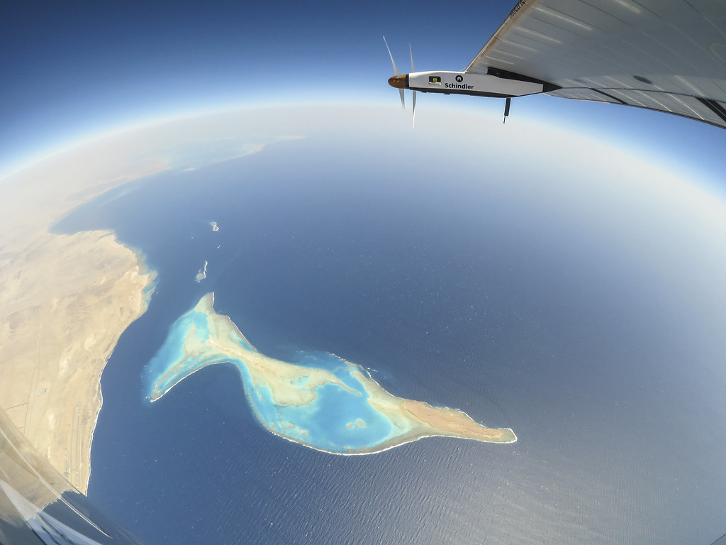 Bertrand Piccard takes a beautiful over the Red Sea