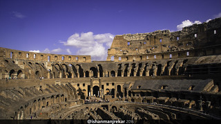 Image of Colosseum near Roma Capitale. canon eos 550d colosseum italy rome travel europe ruins architecture sky history roman civilisation