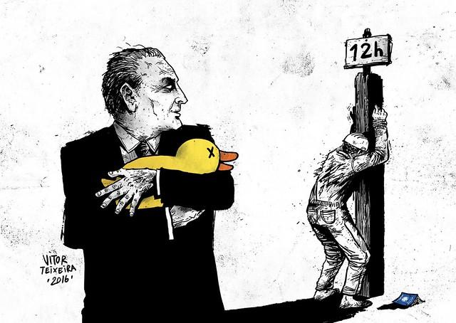 Pagando o pato - Créditos: Vitor Teixeira