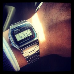 I love my #Casio! #80s #corazonochentero #watches #digital #monochrome