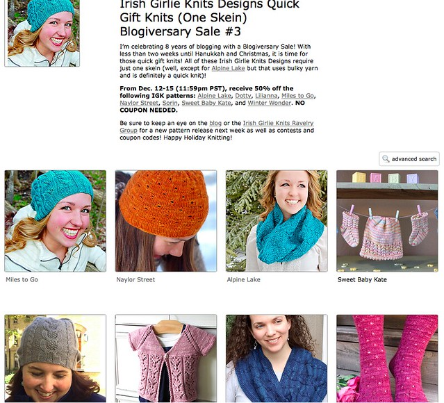 IGK Quick Gift Knits Blogiversary Sale #3