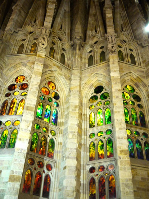 Spain Barcelona La Sagrada Familia stained glass