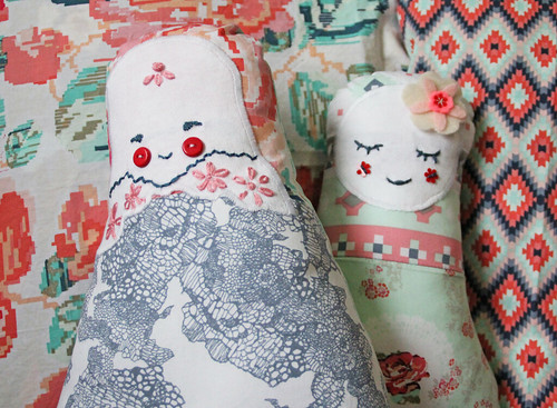 Matryoshka inspired soft dolls