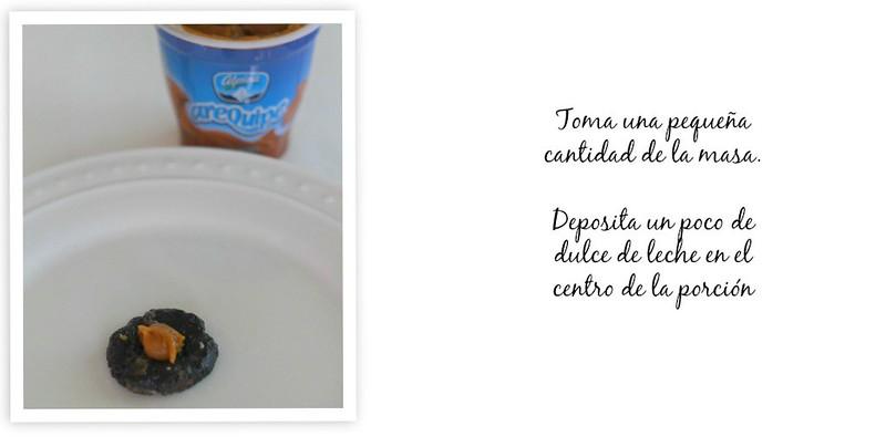Bolitas de galletas Oreo con dulce de leche