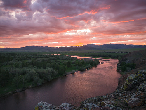 sunset river mongolia mng selenge hövsgöl