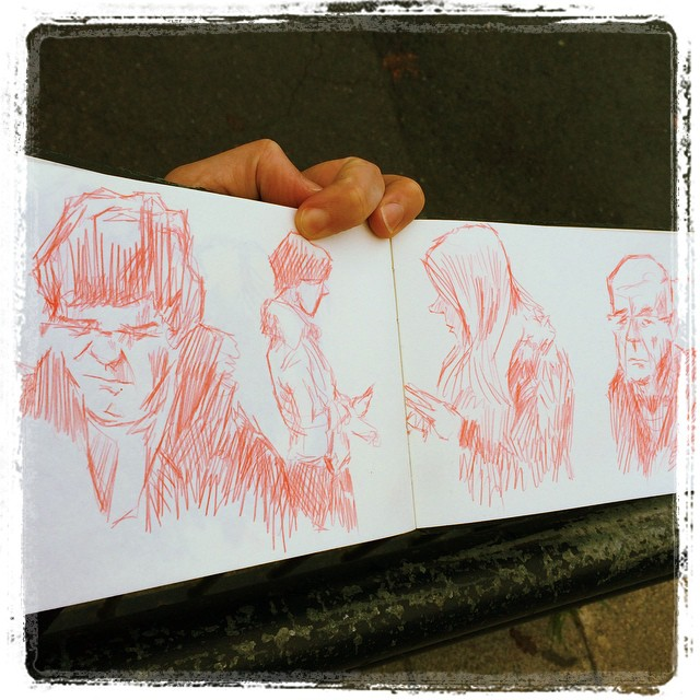 #urbansketch #uni #kurutoga #train #sketch #portraits