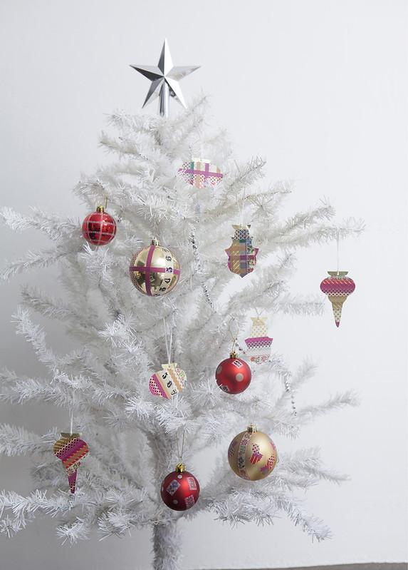 Washi Tape Christmas Tree by Sachie Abiko