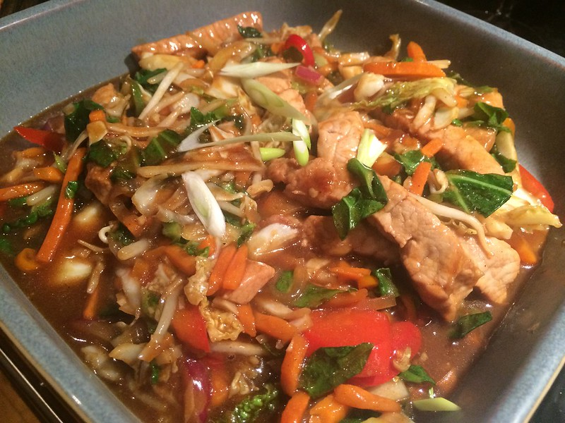 Chinese Stir Fried Pork with Oyster sauce : Finished dish