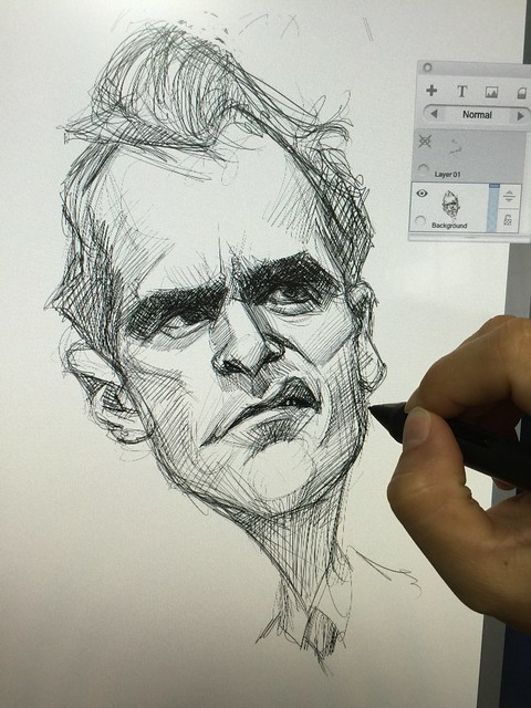Joaquin Phoenix digital caricature sketch!