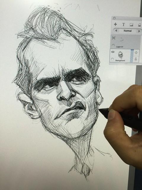Joaquin Phoenix digital caricature sketch!