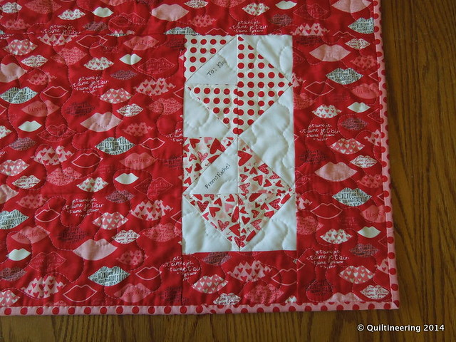 Love Notes: A Valentine's Day Table Runner - Quiltineering