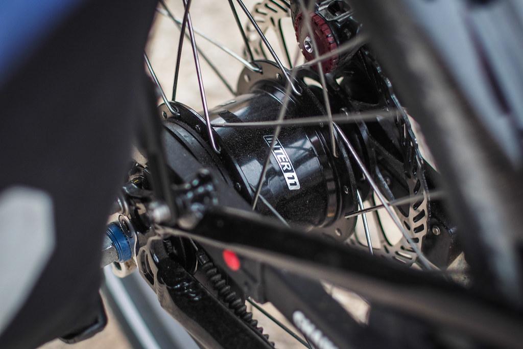Alfine inter-11 internal gear hub on the Tern Verge S27h folding bike (near Blenheim, New Zealand)