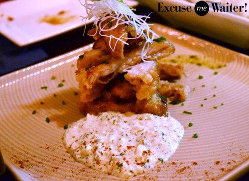 Jazushi Fried Chicken with yuzu citrus sauce, $21