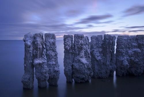 sea beach pier salt bombay pilings remains salton