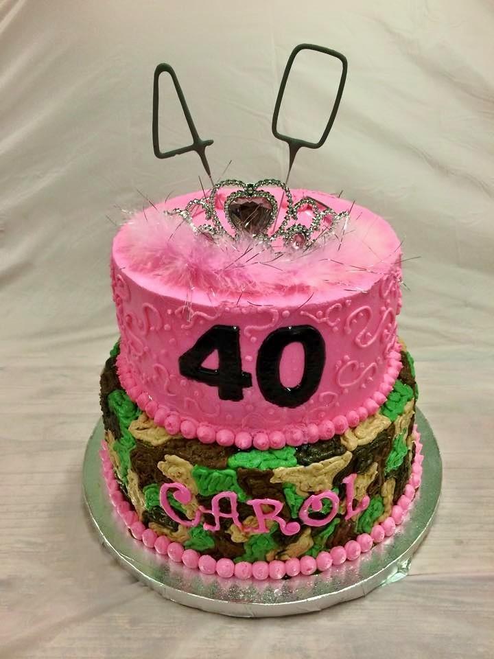 Pink Camouflage Birthday Cake
