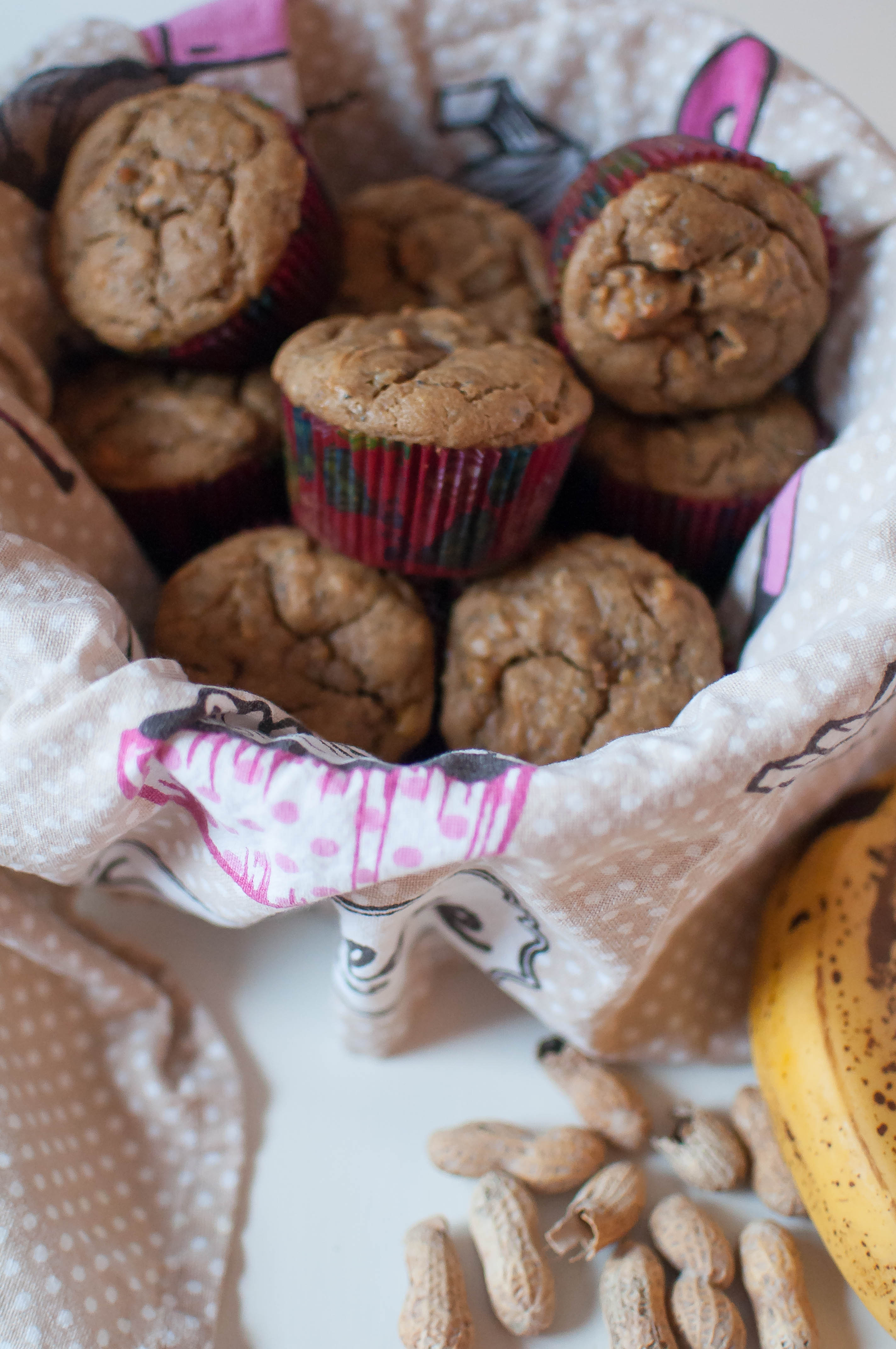 Peanut Butter Banana Muffins {gluten and dairy free) 2