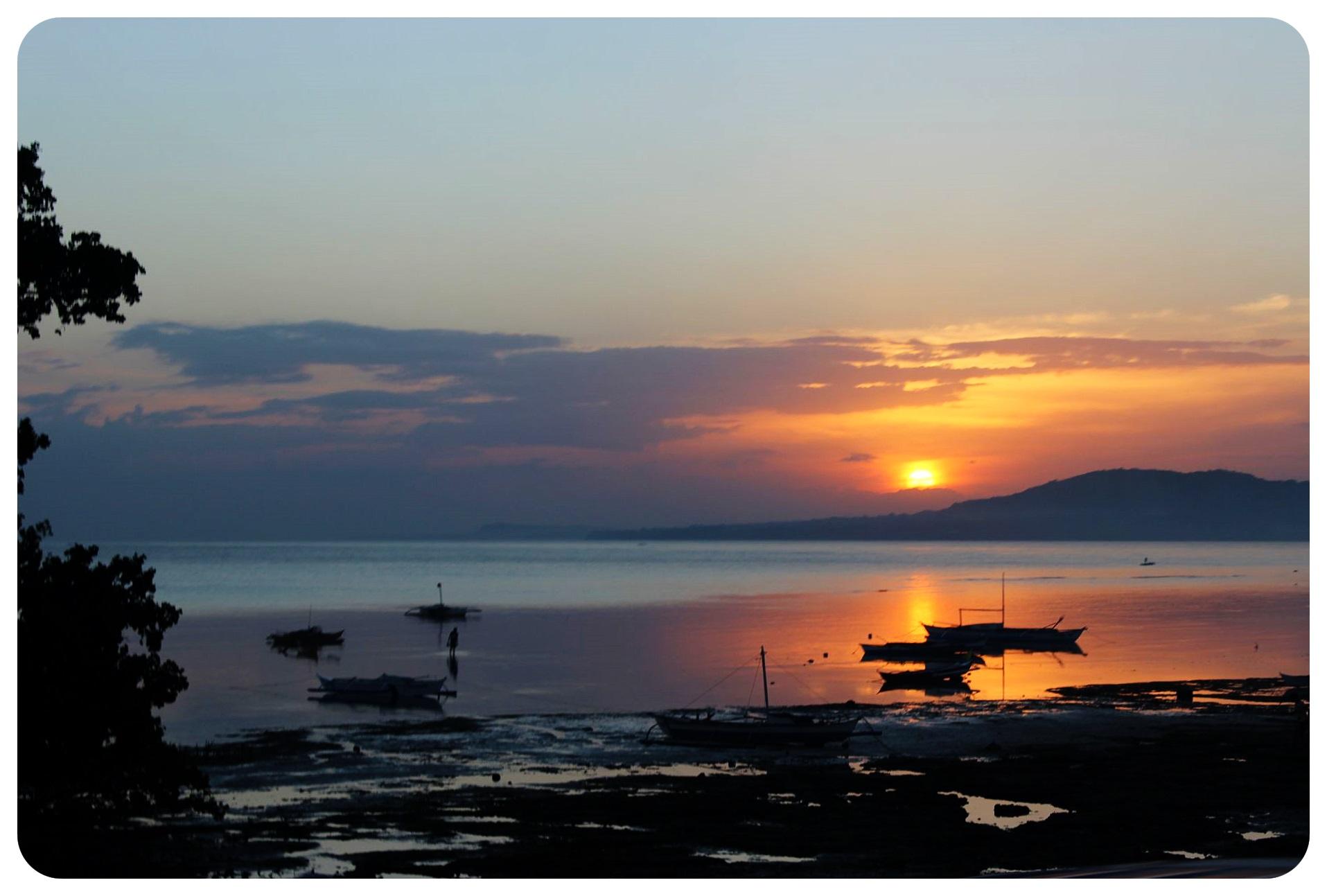 bohol sunset philippines
