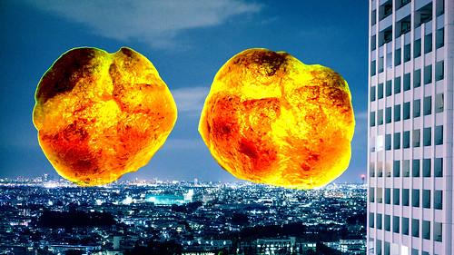 シュークリーム爆発 2個