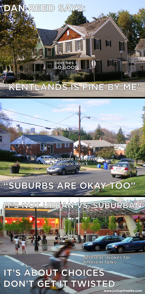 It's not urban vs. suburban, it's about choices. Don't get it twisted!
