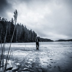 Testing the ice at #Nuuksio Natural Park in #Finland. In search of the frozen gold for a end of season ice and mixed climbing photoshoot.