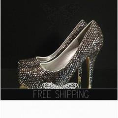 BLACK DIAMOND crystals Luxury Closed Toe heels, http://t.co/rm9MKKsBbE