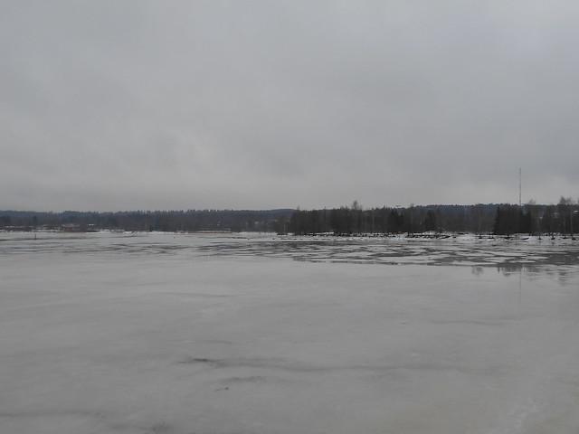 Poikkeuksellisen aikaista järvijäiden sulamista Hämeenlinnassa 20.2.2015