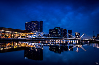 Seafarers Bridge at Blue Hour