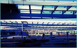 Travaux pour la construction de la nouvelle gare des Guillemins (02/03/2007), Liège, Belgium