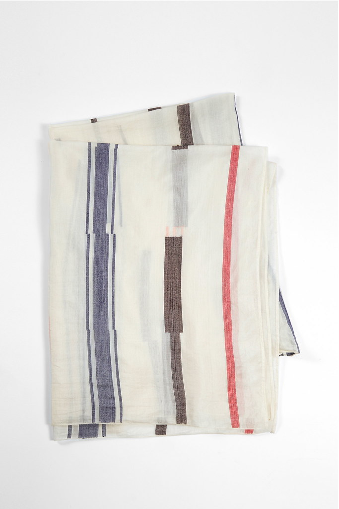 Wala Ecru Cotton/Silk Scarf