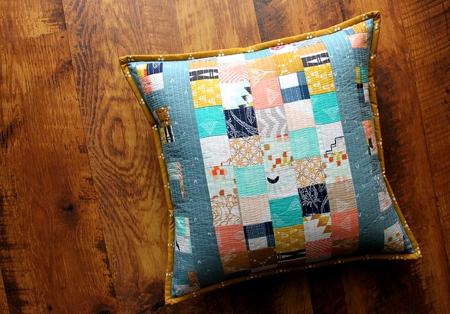 Scrappy Film Strip Pillow