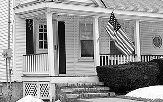 typical american home b&w