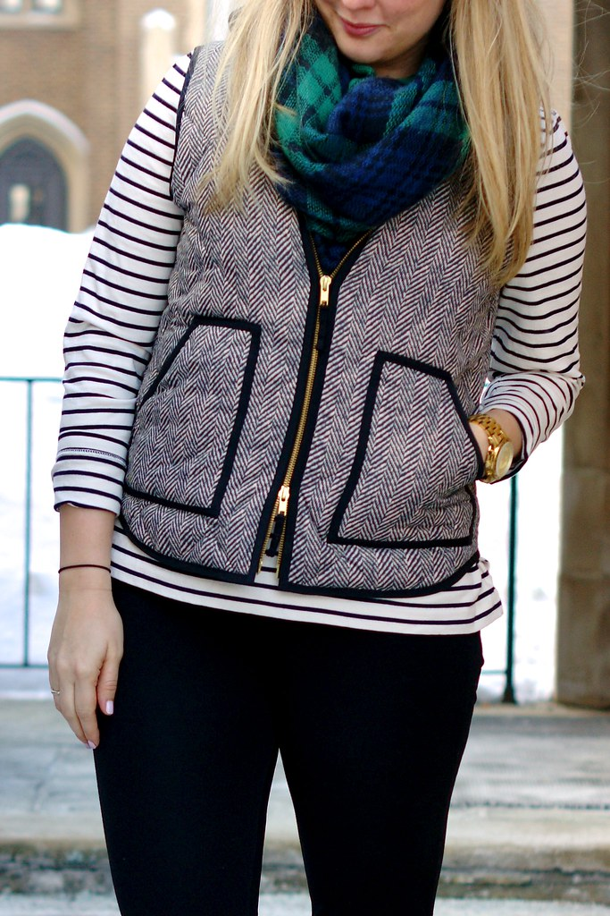 what to wear with a herringbone vest
